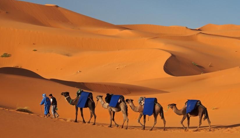 راحة الجسد في حمام رمال مدينة مرزوكة بالمغرب