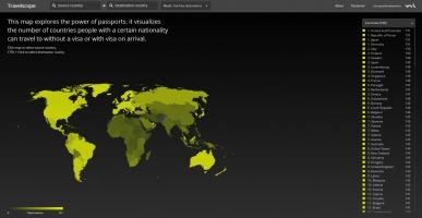 موقع يتيح لك معرفة الدولة التي تستطيع دخولها بجوازك دون فيزا